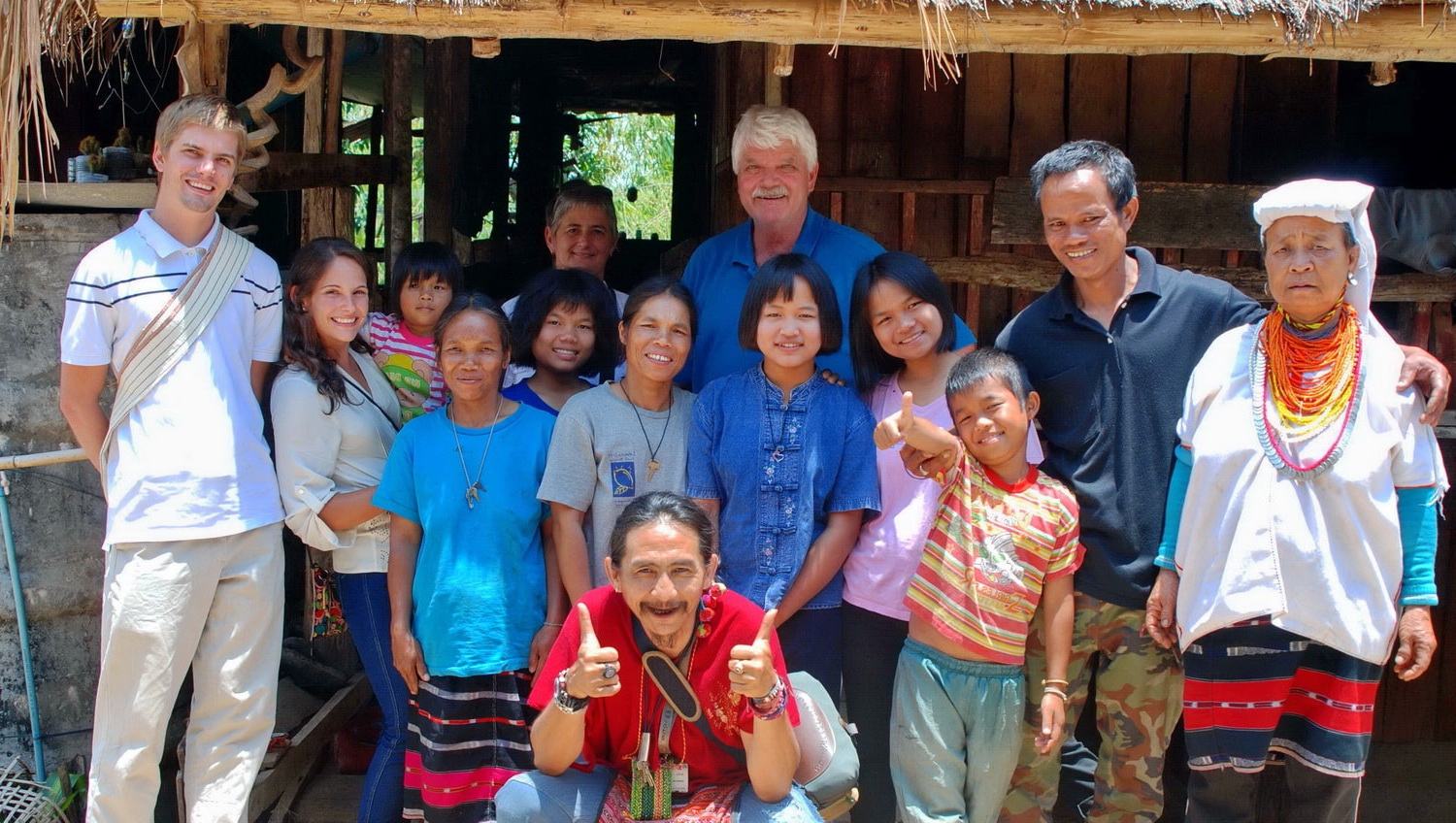 Thailand hilltribe holidays homestay group pic