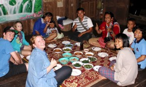 Lawa hilltribe homestay dinner