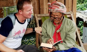 Talking to a Karen Hilltribe villager